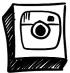 Hand drawn instagram icon