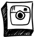 Hand drawn instagram icon